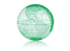 Weltkugel-Grafik
